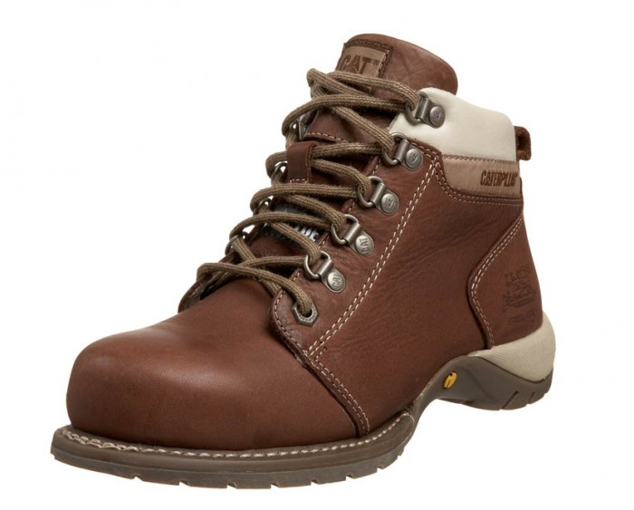 caterpillar womens brown steel toe boots