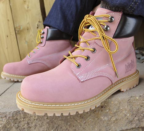 Safety Girl Steel Toe Pink Work Boots (Waterproof)