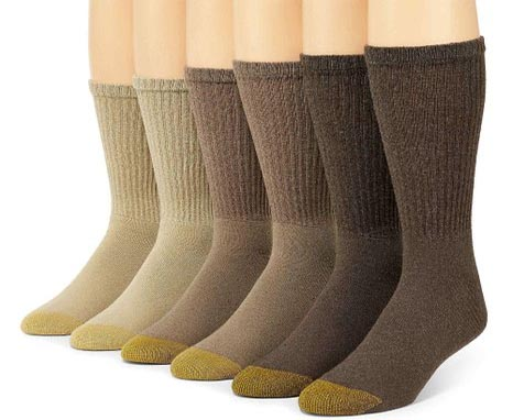 70118556d These men s gold toe cotton crew socks are perfect for the man on the go  who wants a slight ankle support. These high quality socks are available in  an ...